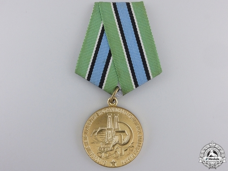 Development of the Petrochemical Complex of Western Siberia Brass Medal Obverse
