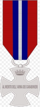 Cross of Merit of the Carabinieri, in Silver Reverse