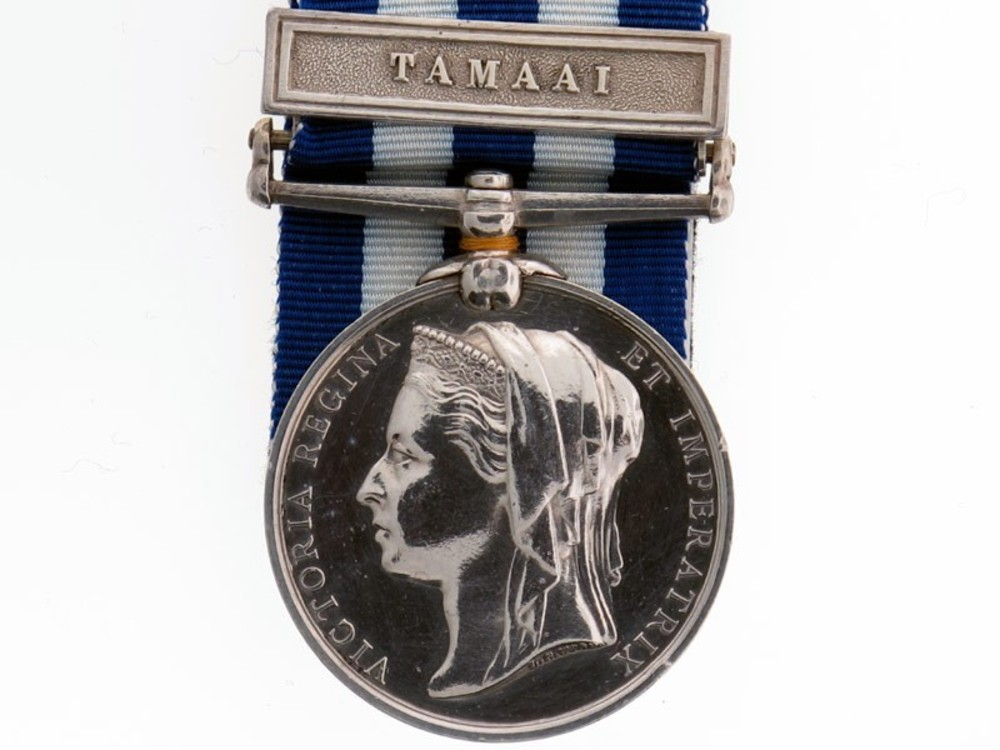 Silver medal with tamaai clasp obverse