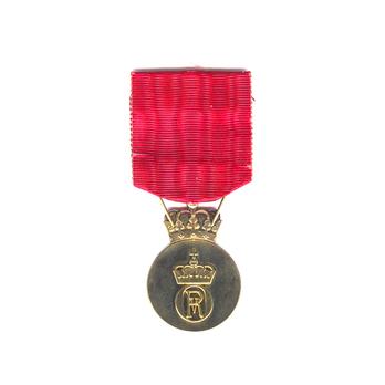 Olav V's Commemorative Medal in Silver Reverse