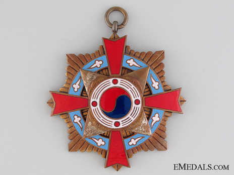 Order of Military Merit, Type I, I Class (Taegeuk) Obverse