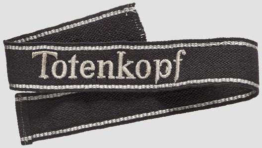 Waffen-SS Totenkopf NCO/EM's Cuff Title Obverse