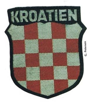 German Army Croatia Sleeve Insignia (2nd version) Obverse