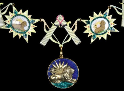 Order of the Lion and Sun, Type I, Collar
