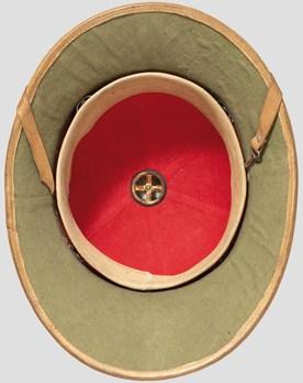 Luftwaffe Tropical Pith Helmet (tan version) Interior