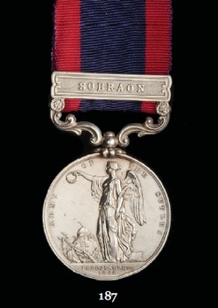 Sutlej Medal (for the Battle of Sobraon, with 1 clasp)