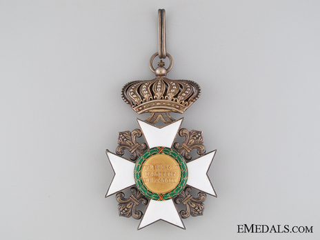 Royal Order of Francis I, Commander (in silver gilt) Reverse