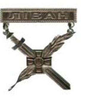 Warrior-Peacemaker Badge (Lebanon) Obverse