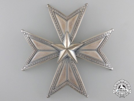 I Class Commander Breast Star (with silver by C. F. Carlman) Obverse