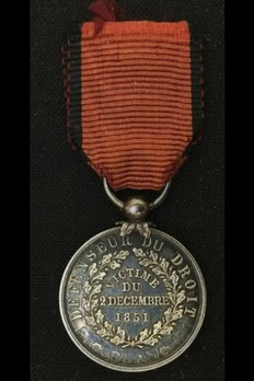 """Medal for Victims, Silver Medal (stamped """"GALIPE"""") Reverse"""