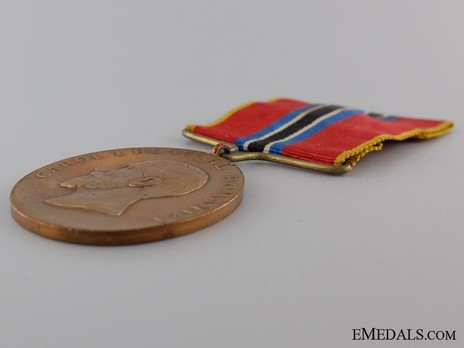 "Bronze Medal (for Civilians, stamped ""CARNIOL FIUL"") Obverse Detail"