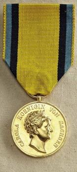 Crown Princess Carola Medal, Type II, in Gold