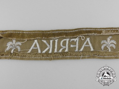 German Army Afrika Cuff Title (2nd version) Reverse