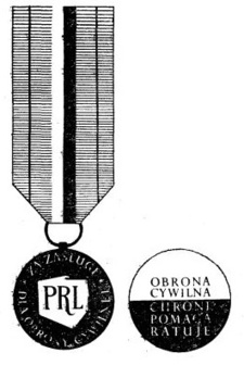Decoration for Merit to Civil Defence, I Class Obverse and Reverse