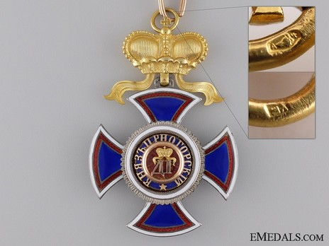 Order of Danilo I (Merit for the Independence), Type III, II Class, Grand Officer Obverse