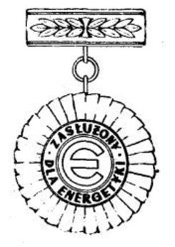 Decoration for the Merit in the Energy Industry, III Class Obverse