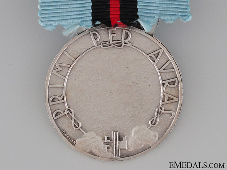 "Silver Medal (stamped ""ME JOHNSON"") (Silvered War Material) Reverse"