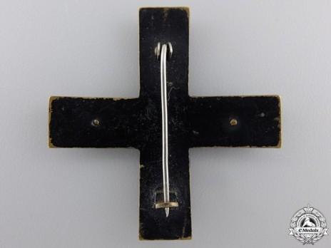 Baltic Cross (pinback) Reverse