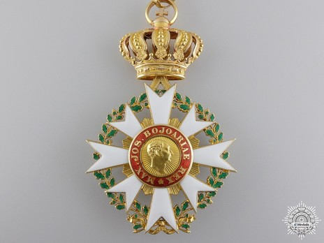 Merit Order of the Bavarian Crown, Commander (in gold) Reverse