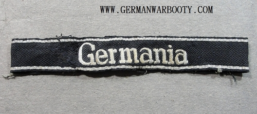 Waffen-SS Germania Officer's Cuff Title Obverse