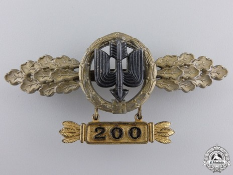 """Long-Range Day Fighter Clasp, in Gold (with """"200"""" pendant) Obverse"""