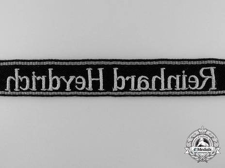 Waffen-SS Reinhard Heydrich NCO/EM's Cuff Title (RZM machine-embroidered version) Reverse