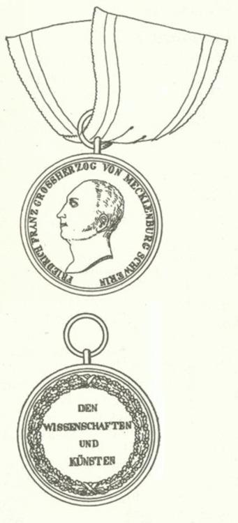 Medaille fur wissenschaften und kunsten mecklenburg schwerin2