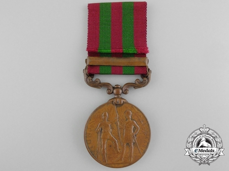 """Bronze Medal (with """"RELIEF OF CHITRAL 1895"""" clasp) (1896-1901) Reverse"""