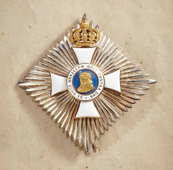 Order of Philip the Magnanimous, Type II, Commander Breast Star (with crown)