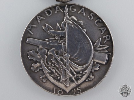 """Silver Medal (with """"1895"""" clasp, stamped """"O.ROTY"""") Reverse"""