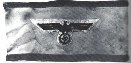 Kriegsmarine Air Protection Leader Armband Obverse
