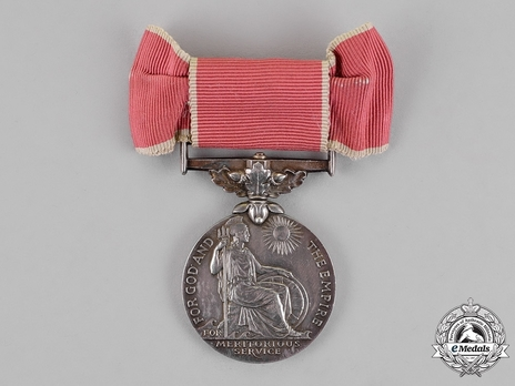 """Silver Medal (for civilians, with King George VI """"GRI"""" cypher) (for ladies) Obverse"""