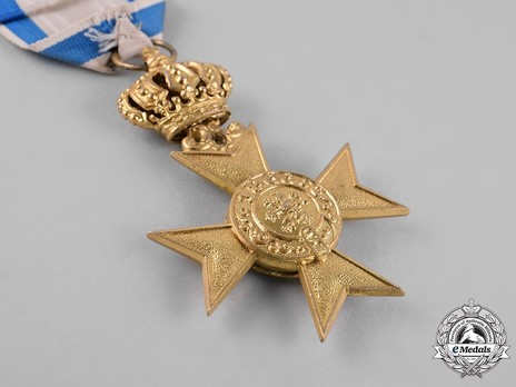 Order of Military Merit, I Class Military Merit Cross (with crown) Reverse