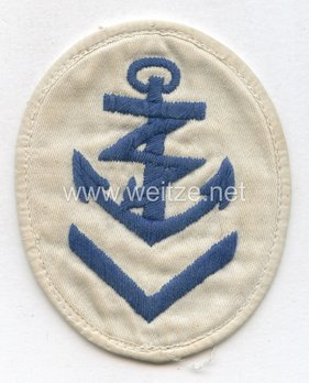 Kriegsmarine Obermaat Radio Operator Insignia (embroidered) Obverse