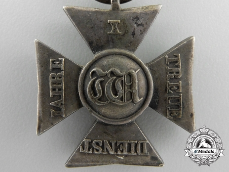 Silver Cross for 10 Years Obverse