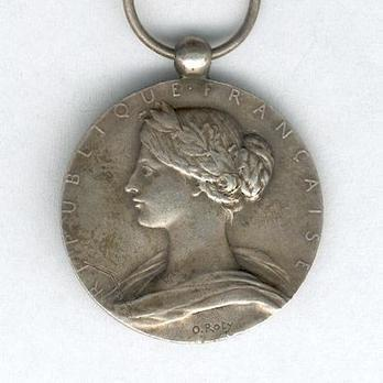 "Silver Medal (for Long Service, stamped ""O. ROTY,"" 1900-1935) Obverse"