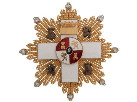 3rd Class Breast Star (white distinction pension) Obverse