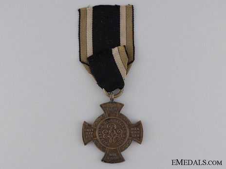 Bronze Cross for Faithful Warriors Reverse