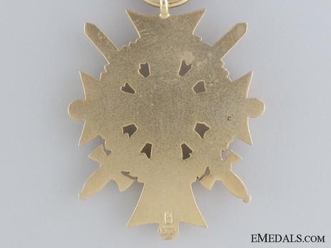Dukely Order of Henry the Lion, I Class Merit Cross with Swords (in silver gilt) Reverse