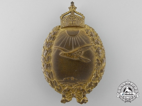 Naval Sea Pilot Badge, by H. Schaper (in brass gilt) Obverse