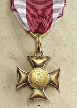 Military Long Service Cross in Gold for 25 Years (1839-1871)