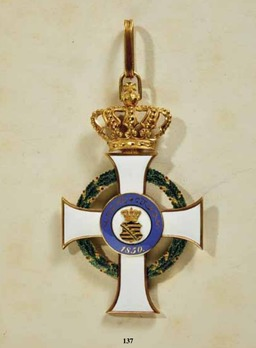 Albert Order, Type I, Civil Division, Grand Cross (1851-1875)