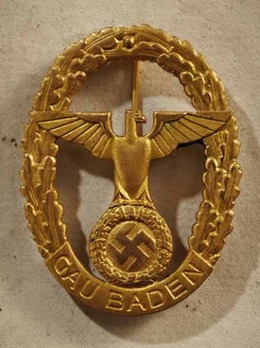 Gau Honour Badge Baden, in Gold, Large Obverse