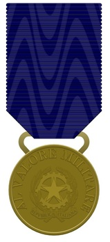 Medal of Military Valour, in Bronze Obverse