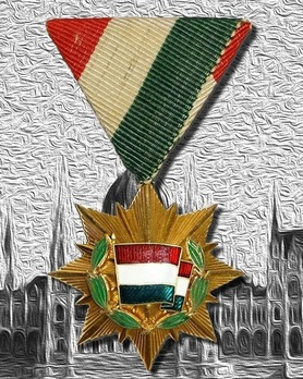 Order of the Flag of the Hungarian People's Republic, V Class Obverse