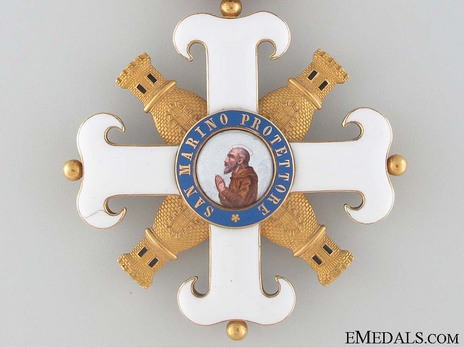 Order of San Marino, Type I, Military Division, Commander Obverse