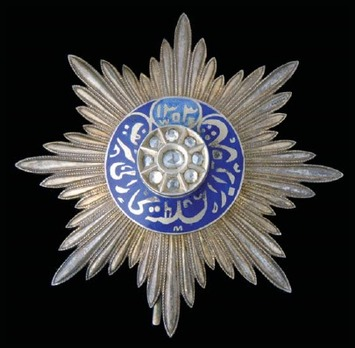 Order of Noble Bukhara, Order of the Crown of the State of Bukhara, Gold Star with diamonds