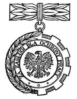 Decoration for Merit to Labour Protection Obverse