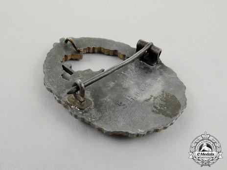 Destroyer War Badge, by Sohni, Heubach & Co. Reverse