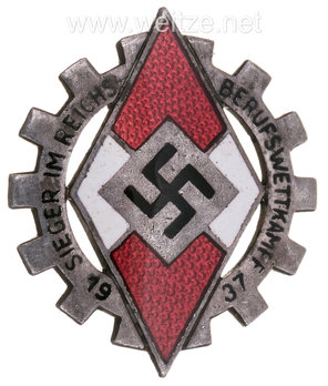 National Trade Competition Victors' Badge, Type I (1937) Obverse